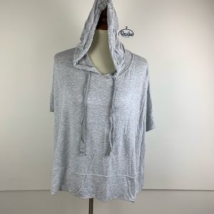 Lou & Grey Gray Hooded Pullover Sweatshirt D3013